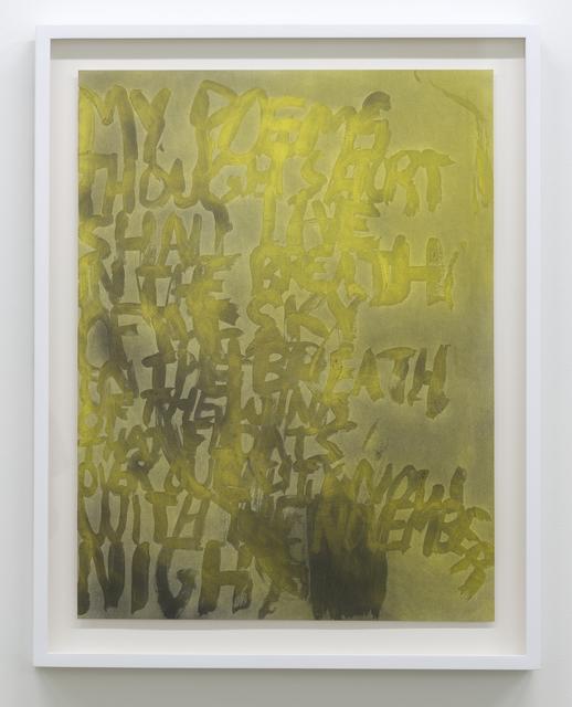 , 'My Poems (H.M.),' 2017, Galerie Hugues Charbonneau
