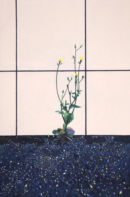 Camille Brès, 'Touffe d'herbes devant carrelage', 2020, Painting, Gouache on paper, Galerie Ariane C-Y