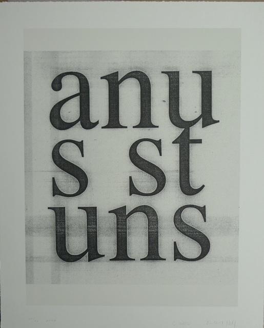 Christopher Wool, 'Untitled', 2008, Print, Screenprint on paper, Bengtsson Fine Art