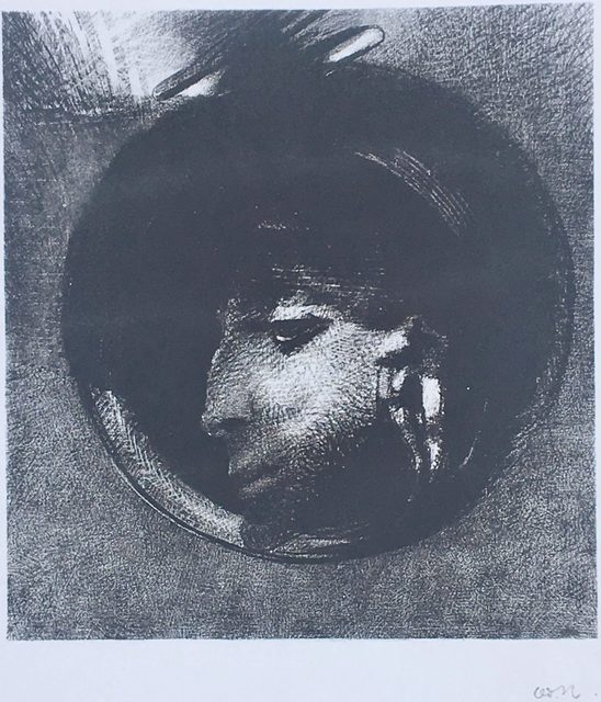 Odilon Redon, 'La Cellule Auriculaire', 1894, Print, Lithograph on chine appliqué, wide margins., Catherine E. Burns Fine Prints