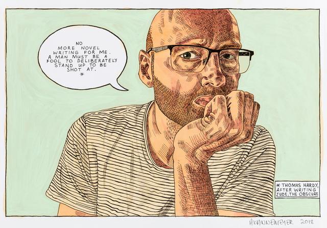 , 'Self-portrait: Novel writing,' 2018, Stevenson
