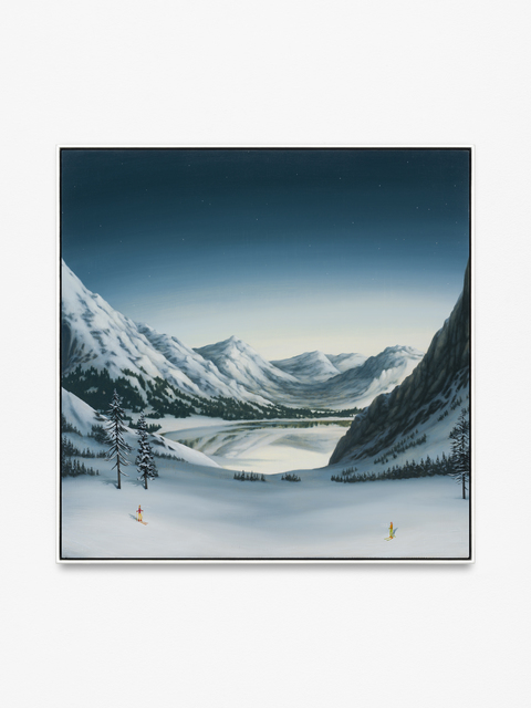 , 'Mountains with Skiers,' 2015, CFHILL