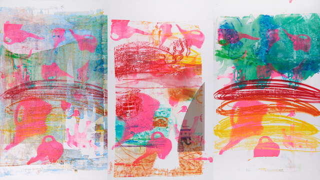 , 'Rainbow Elephant Triptych,' 2016, The Lionheart Gallery
