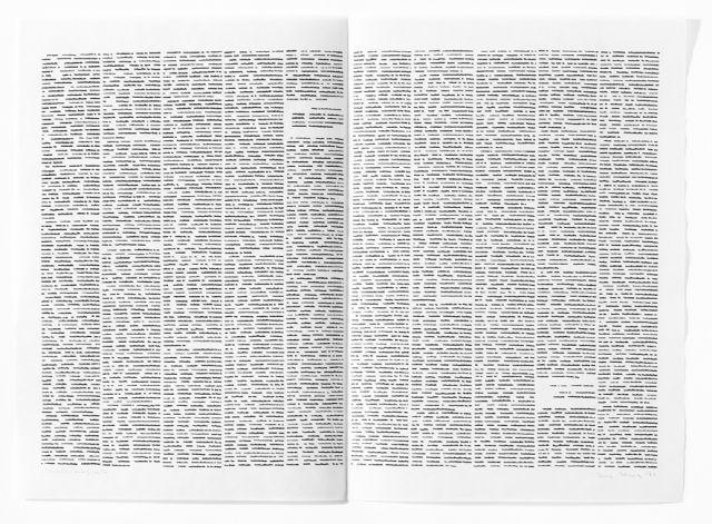 , 'Trascrizioni Zeitungdoppelseite,' 1974, Raffaella De Chirico