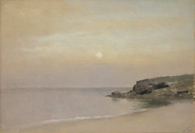 , 'Pale Moonlight, Placid Sea, Rocky Point,' 1907, Sullivan Goss