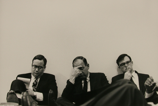 , 'Stockbroker Meeting, Montgomery St., SF,' 1969, Anglim Gilbert Gallery