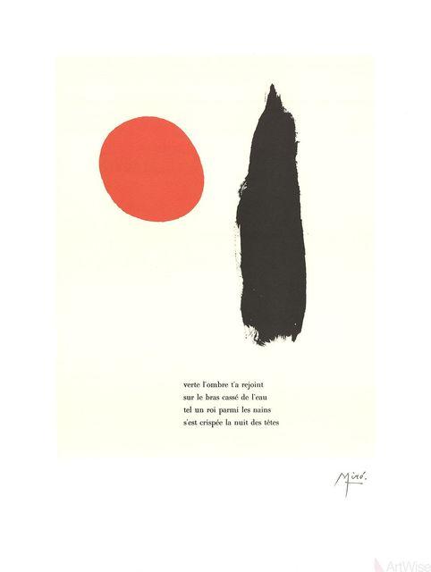 """Joan Miró, 'Illustrated Poems-""""Parler Seul"""" V', 2004, ArtWise"""