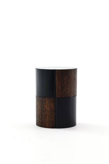, 'Round rubbed lacquer tea caddy with checkered pattern,' 2017, Ippodo Gallery