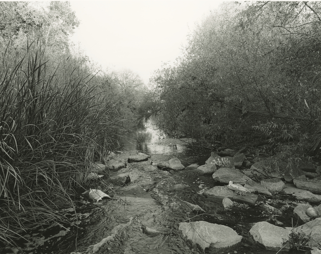Mark Ruwedel, 'LA River View #5', 2018, Photography, Gelatin silver print dry-mounted to archival board, Gallery Luisotti