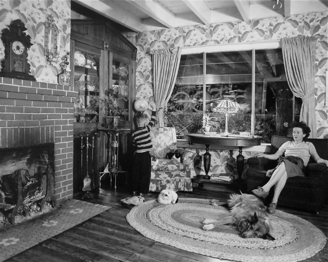 , 'Living Room on the Tracks, Lithia, Virginia,' 1956, Danziger Gallery