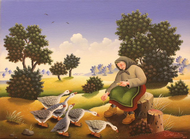 , 'Feeding the Geese,' 2014, GINA Gallery