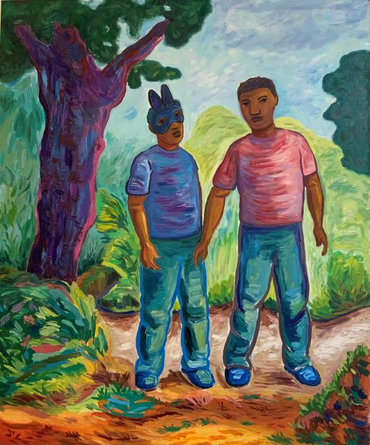 John Bankston, 'Buzz', 2021, Painting, Oil on panel, Rena Bransten Gallery