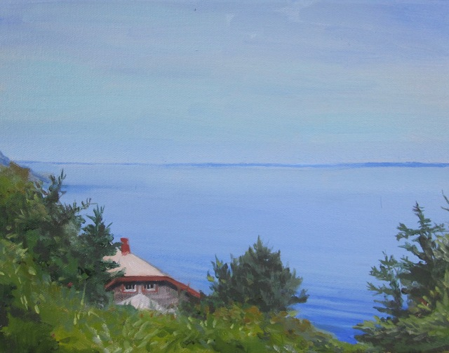 , 'Overlooking Nigh Duck, Monhegan,' , Copley Society of Art