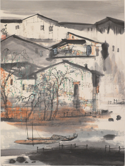 Xu Ming, 'Village by the Stream', 2014, Ronin Gallery