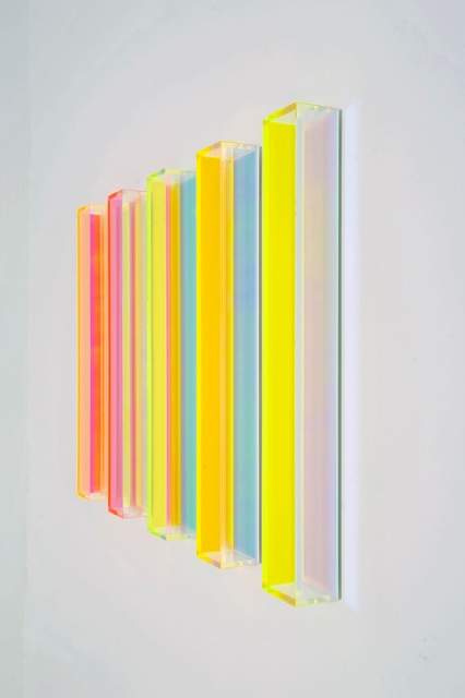 , 'color rainbow miami vertical 1/2,' 2017, Renate Bender