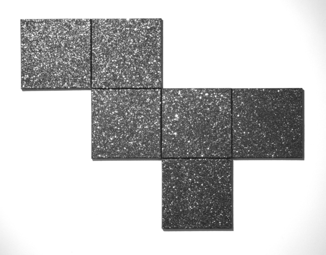 ", 'flat cube, 36""x48""x.75"", acrylic & miox on canvas,' , Michael Warren Contemporary"