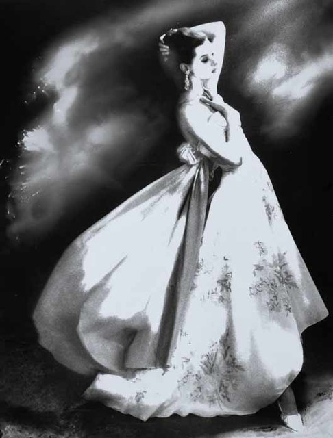 , 'Silk Organdie, Embroidered and Printed, Barbara Mullen in a gown by Irene, New York, Harper's Bazaar, January 1956,' 1956, Edwynn Houk Gallery