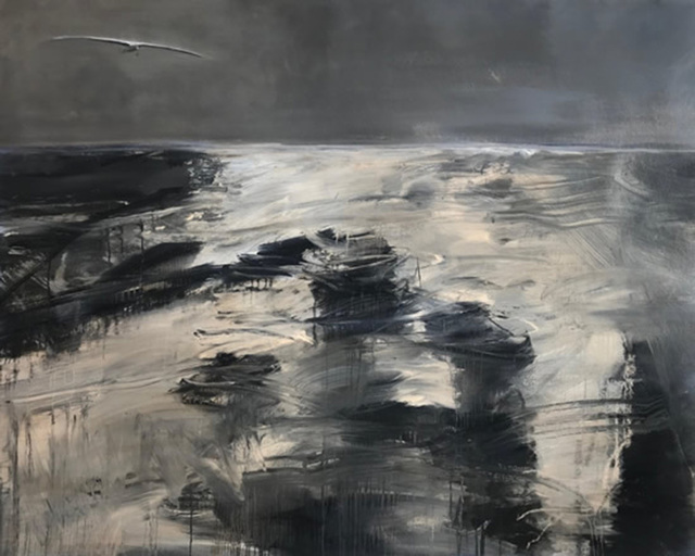 Pippa Blake, 'The Lonely Sea', 2018, Painting, Oil on paper, Candida Stevens Gallery