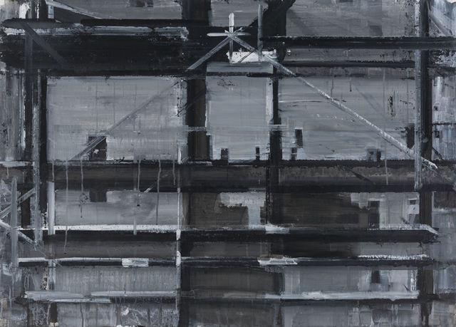 , 'Hanging Star Chain 被悬在半空中呈米字型的斜拉索,' 2015, PIFO Gallery