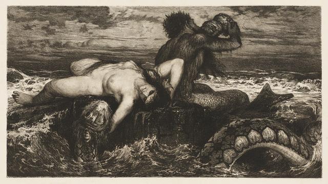 , 'Triton and Nereid (Triton und Nereïd),' ca. 1880, Clark Art Institute
