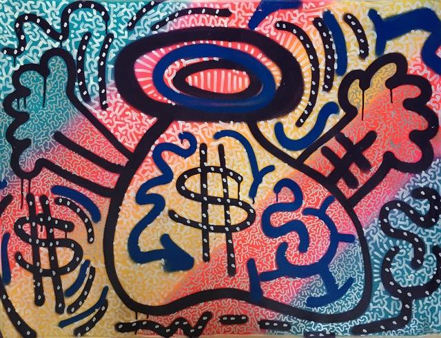 LA II (Angel Oritz), 'Rainbow Money Bag', 2008, Leonards Art