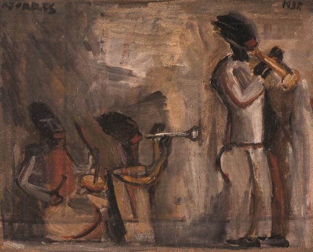 , 'Tres músicos de jazz,' 1937, Galería de las Misiones