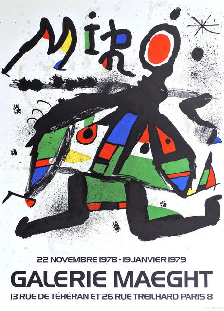 Joan Miró, 'Artist poster for Galerie Maeght', 1979, Print, Color lithograph, Hans den Hollander Prints
