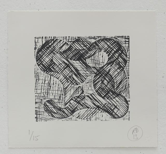 Richard Deacon, '1+1=10 Black/Black', 2013, STPI