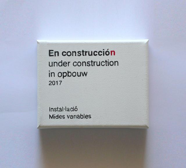 Martí Anson, 'Cartelas de arquitectura (En construcción)', 2017, Estrany - De La Mota