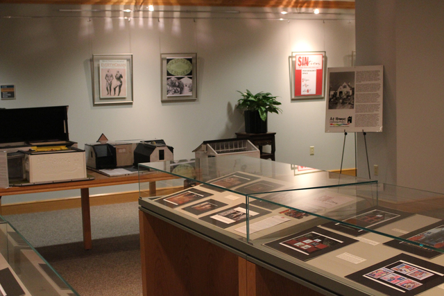 , 'Installation view, Challenge Yourself: Judy Chicago's Studio Art Pedagogy. The Eberly Family Special Collections Library, Paterno Library,' , Penn State: Judy Chicago Art Education Collection