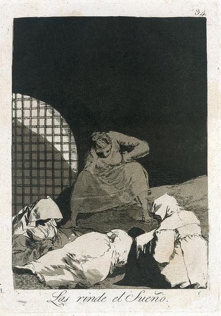 Francisco de Goya, 'Las rinde el sueño (Sleep Overcomes Them), plate 34 from Los Caprichos', 1797, Blanton Museum of Art