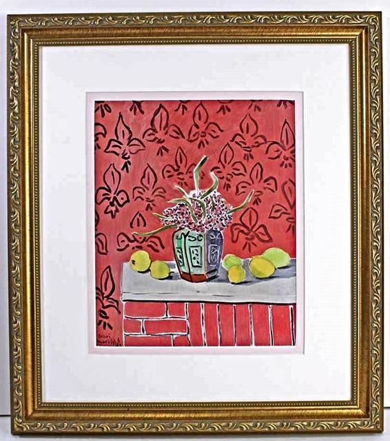 Henri Matisse, 'Lemons on Pink Fleur De Lis Background', 1943-1945, Print, Serigraph, Leviton Fine Art