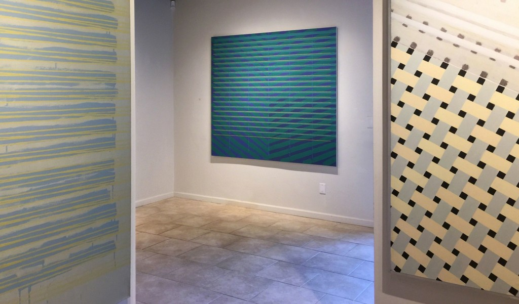 Anthony Greco: Paintings from the 1970s. Left to Right: 314/Fifteen(1976), 314/Eleven (1975), Tiles #2, (1970)