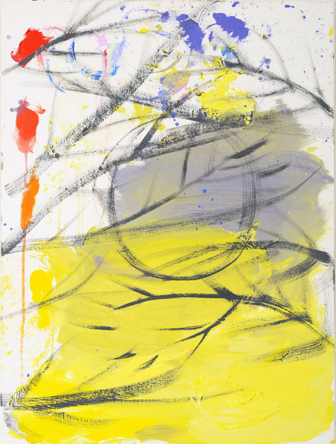 , 'Untitled (Palette, Halloween Moon, Lemon Yellow Purple Sky, 10-31-15), 2015,' 2015, Nina Johnson