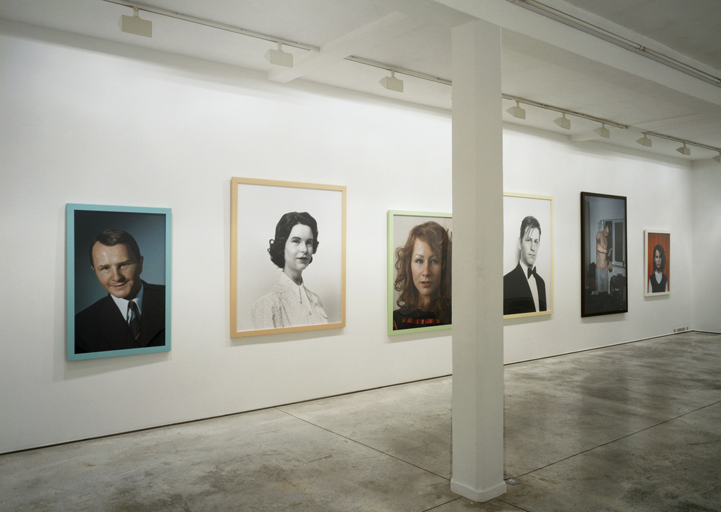Family Album, Gillian Wearing exhibition view at Maureen Paley, London, 2003