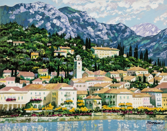 Howard Behrens, 'BELLAGIO HILLSIDE (EMBELLISHED)', 1991, Gallery Art