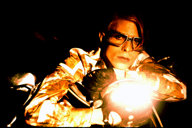 , 'David Bowie with Motorcycle,' 1974, CAMERA WORK