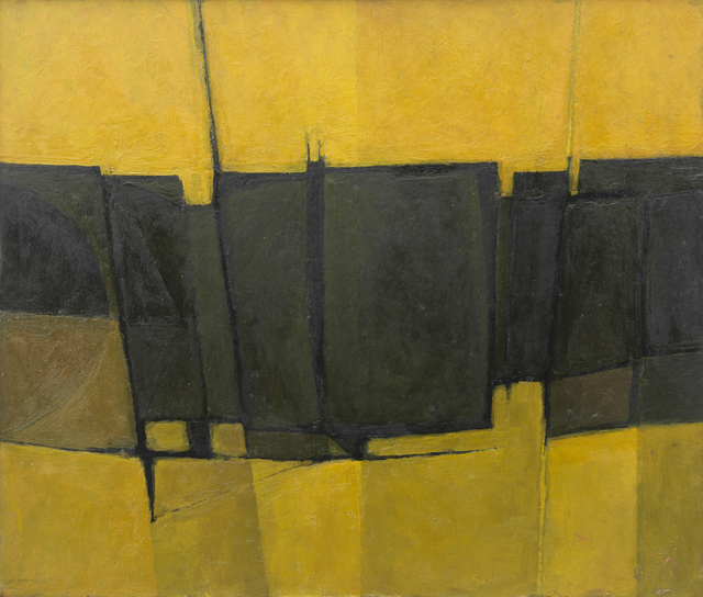, 'Yellow, Green and Black Forms,' 1959, Annely Juda Fine Art