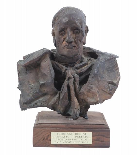 Floriano Bodini, 'Testa di prelato', 1962, Sculpture, Bronze, Aste Boetto