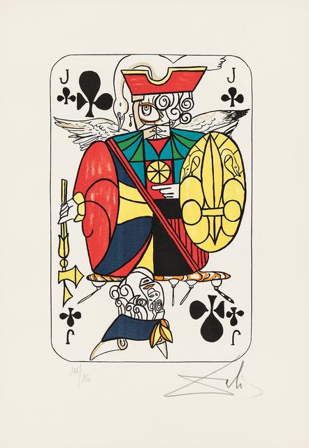 Salvador Dalí, 'Four Images of Club Cards from the suite Playing Cards', 1972, Skinner