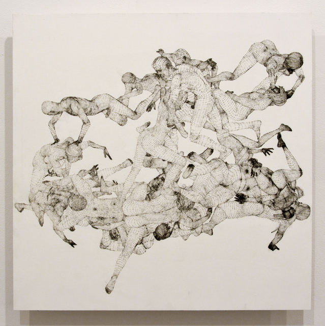 Jonathan Schipper, 'Laser Sketch #6 (At Any Given Moment)', 2019, Drawing, Collage or other Work on Paper, Laser etching on painted wood, Pierogi