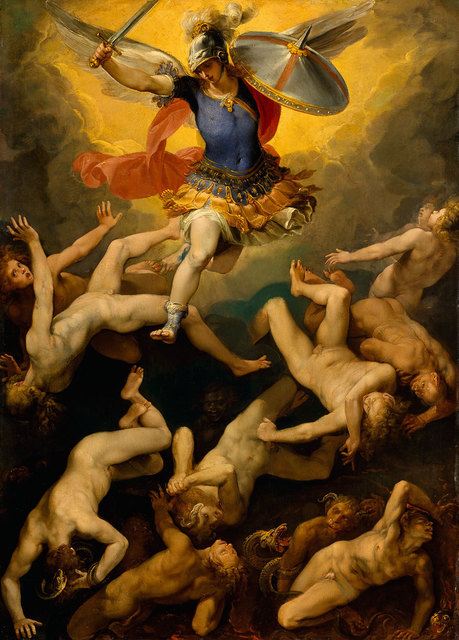 , 'Archangel Michael and the Rebel Angels,' ca. 1592, American Federation of Arts