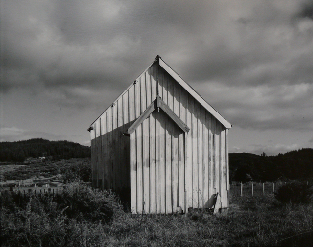 Laurence Aberhart, 'Church Maraeroa, Hokianga Harbour, 2 May 1982', 1982, Photography, Silver Gelatin photograph, Gow Langsford Gallery