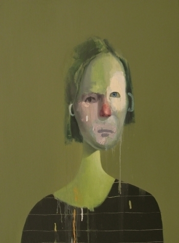 , 'Untitled Portrait with Six Lines and Blue-Green Ear,' 2011, envoy enterprises