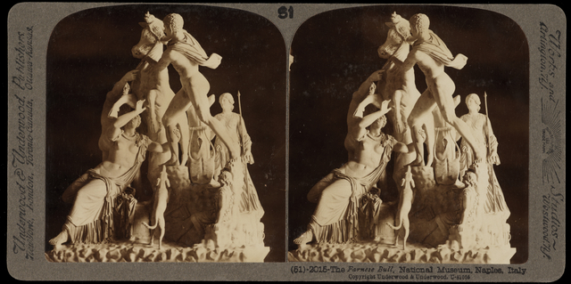Bert Underwood, 'The Farnese Bull, National Museum, Naples', 1900, Stereograph : gelatin silver, Getty Research Institute