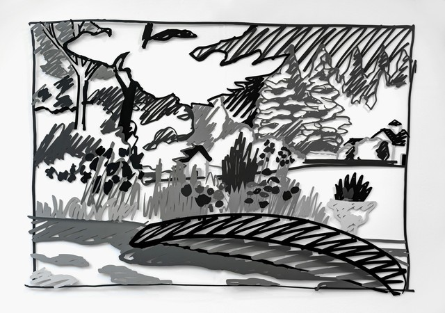 Tom Wesselmann, 'The Red Canoe (black) (L3)', 1990, Galerie Thomas
