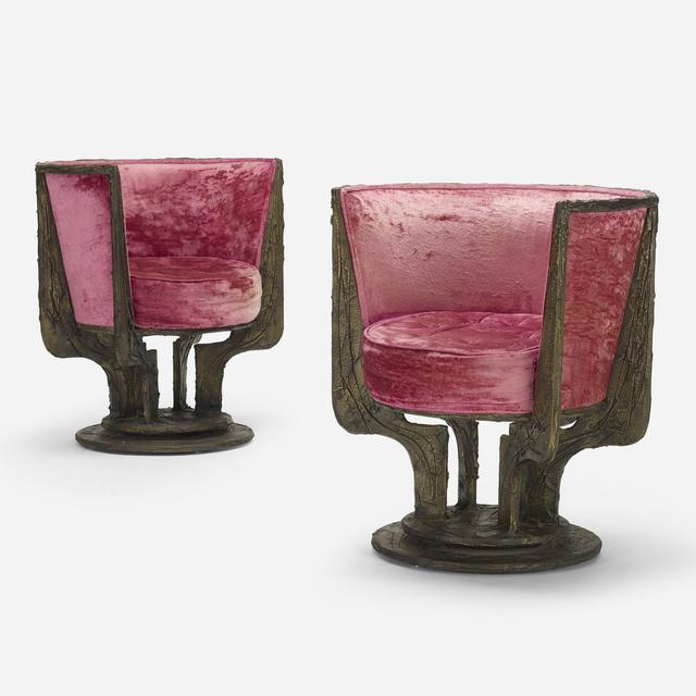 Paul Evans, 'Sculpted Metal lounge chairs model PE-141, pair', 1971, Wright