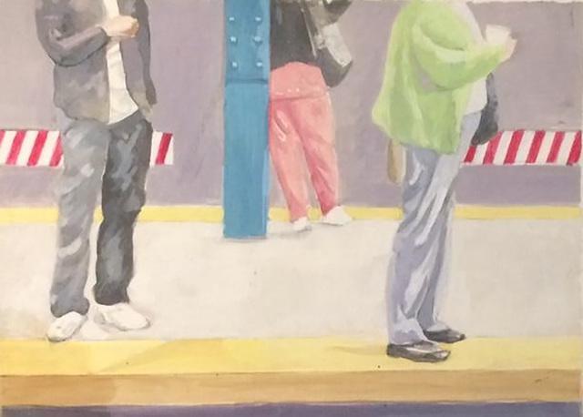 , 'Subway Study,' 2018, Bowery Gallery