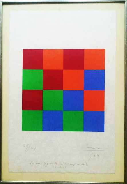 , 'Untitled Silkscreen (inscribed to renowned collector Guy Weill),' 1964, Alpha 137 Gallery