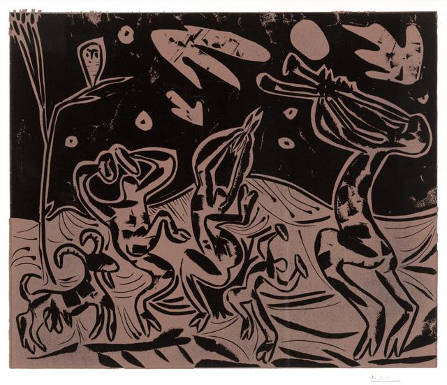 Pablo Picasso, 'Les Danseurs au Hibou (Dancers with an Owl)', 1959, Print, Color linocut, Masterworks Fine Art